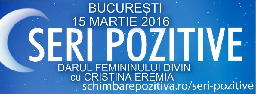 """""""Darul Femininului Divin"""" – Invitată: Cristina Eremia"""