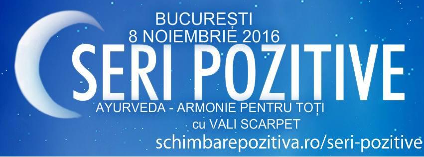 """""""Ayurveda – Armonie pentru toţi"""" – Invitat: Vali Scarpet"""